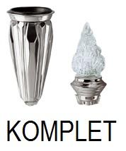 Wazon i lampka na kolumbarium - KOMPLET