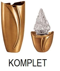 Wazon i lampa na kolumbarium - KOMPLET